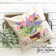 Pillow - Happiness Blooms From Within