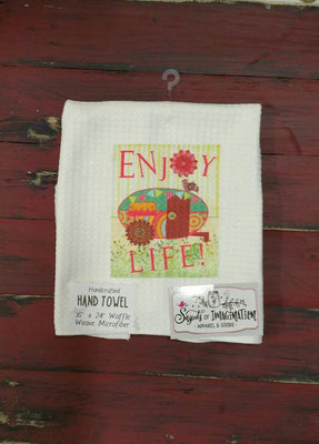 Handtowel - Enjoy Life With Cute Camper