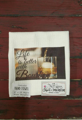 Handtowel - Life Is Better With Bourbon