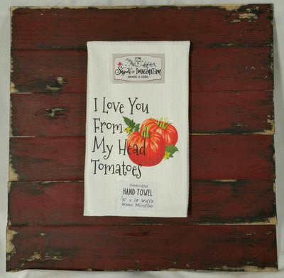 Handtowel - I Love You From My Head Tomatoes