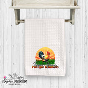 Handtowel - Rooster Sunrise - Rise and Shine Mother Cluckers