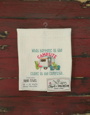 Handtowel - What Happens At Campsite Stays At Campsite