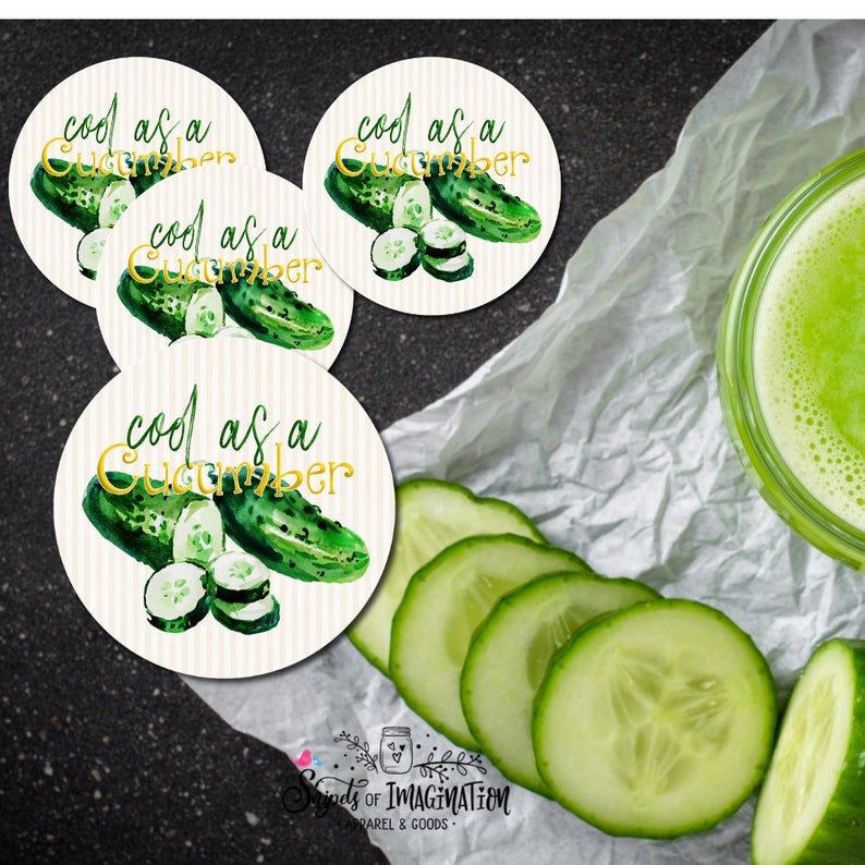 Coasters - Cool As A Cucumber - Cucumber