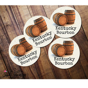 Coasters - KY Bourbon with Bourbon Barrels