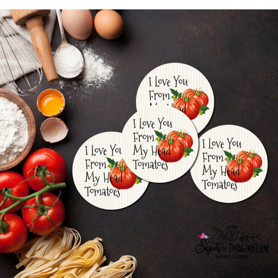 Coasters - I Love You From My Head Tomatoes - Tomato