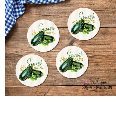 Coasters - Squash Your Fears with Squash/Zucchini