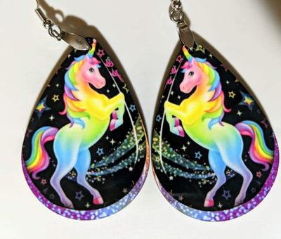 Earrings - Colorful Unicorn