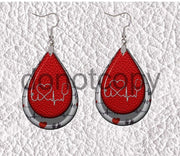 Earrings - Stethoscope, Heart, Heart Rhythm