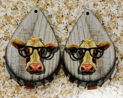 Earrings - Cow/Heifer with Glasses