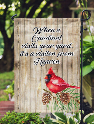 Flag - When A Cardinal Visits Your Yard, It's A Visitor From Heaven