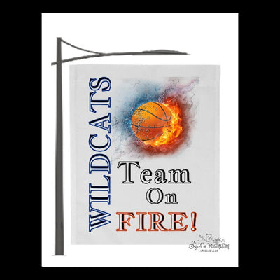 Flag - Wildcats Team On Fire - Basketball