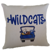 WILDCATS FOOTBALL TRUCK PILLOW