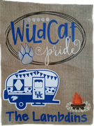 WILDCAT PRIDE UNIVERSITY OF KENTUCKY CAMPING FLAG