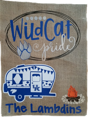 Flag - Wilcat Pride University of Kentucky Camping Personalized