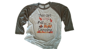 THIS GIRL LOVES FALL CAMPING SHIRT