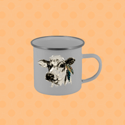 HEIFER WITH FEATHERS CAMP STAINLESS STEEL MUG