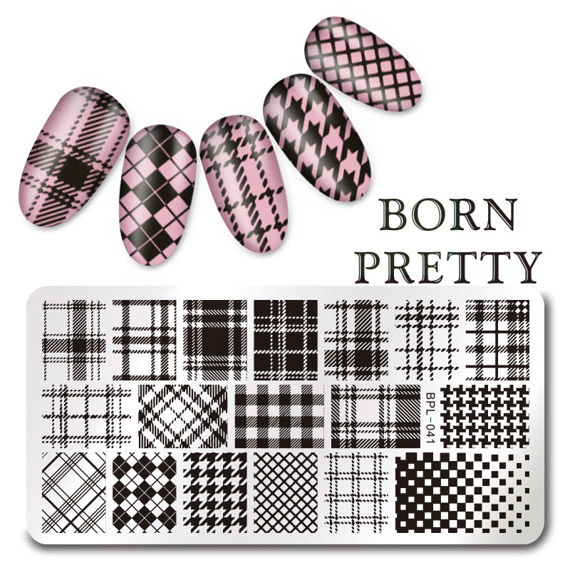 BORN PRETTY Rectangle Nail Art Stamp Template