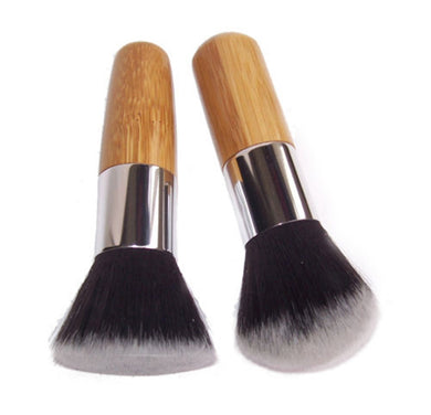 Wood Handle Flat Top Cosmetic Makeup Brush