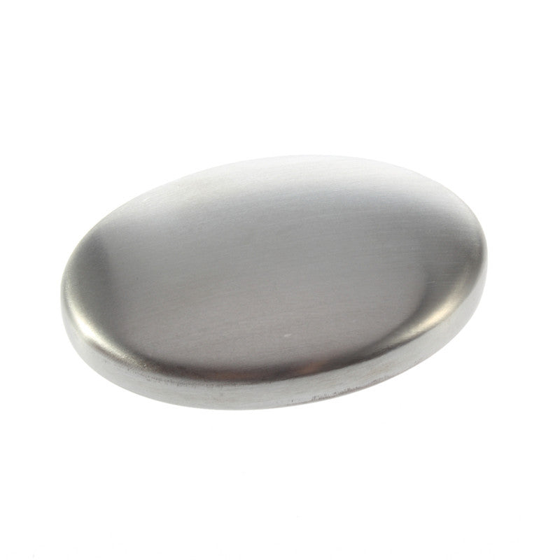 Magic Oval Shaped Stainless Steel Soap Deodorize Smell Eliminating Odor
