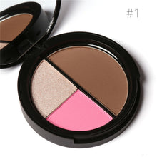 FOCALLURE Brand 3 Colors/Highlight Face Powder Makeup