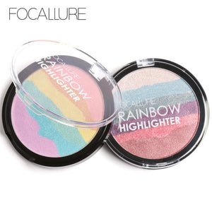 FOCALLURE New Wild Rainbow 3D Highlighter Powder
