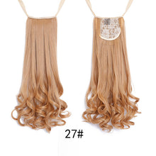 SHANGKE HAIR 22'' Long Curly Synthetic Ponytail Drawstring Clip In