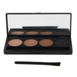 4 Colors Eyebrow Powder Palette With Brush/Mirror