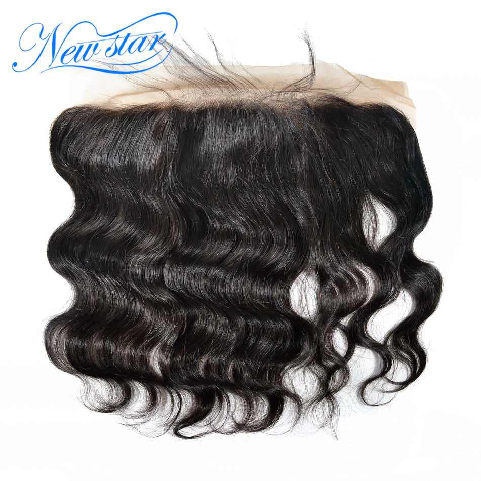New Star Brand Lace Frontal 13x4 Brazilian Body Wave 100% Virgin Human Hair Free Part Natural Color Bleached Knots With Baby Hair Extensions 10-20