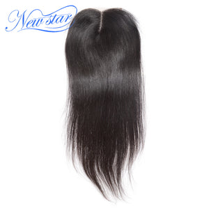 New Star Brand Peruvian Straight Hair Lace Middle Part 4''x4'' Closures Natural Color Virgin Human Hair Extensions W/Baby Hair