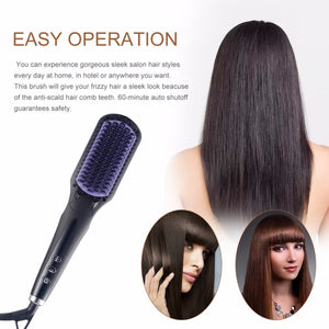 2 in 1 LCD Electric Hair Straightener Comb/Brush