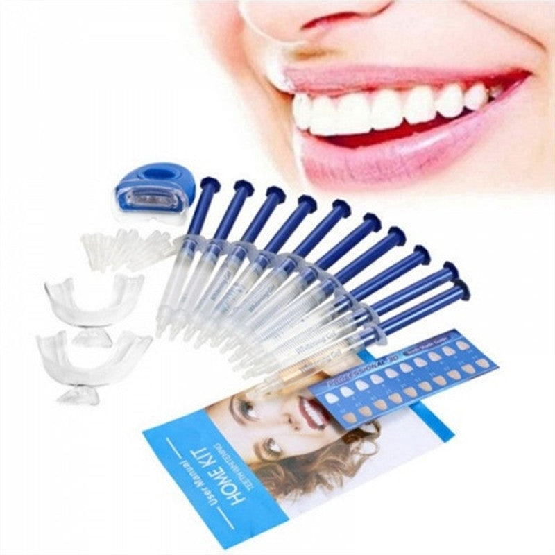 Teeth Whitening Bleaching System Kit W/ Whitening Lamp
