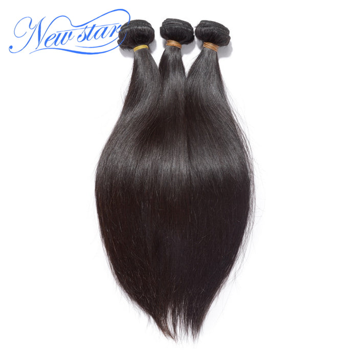 New Star Brand Peruvian Straight Hair 3 Pcs Weft 100% Virgin Human Hair Extension