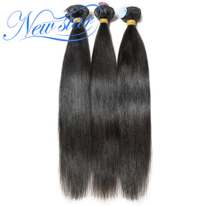 New Star Brand Brazilian Virgin Human Hair Straight Style Extension 3 Bundles