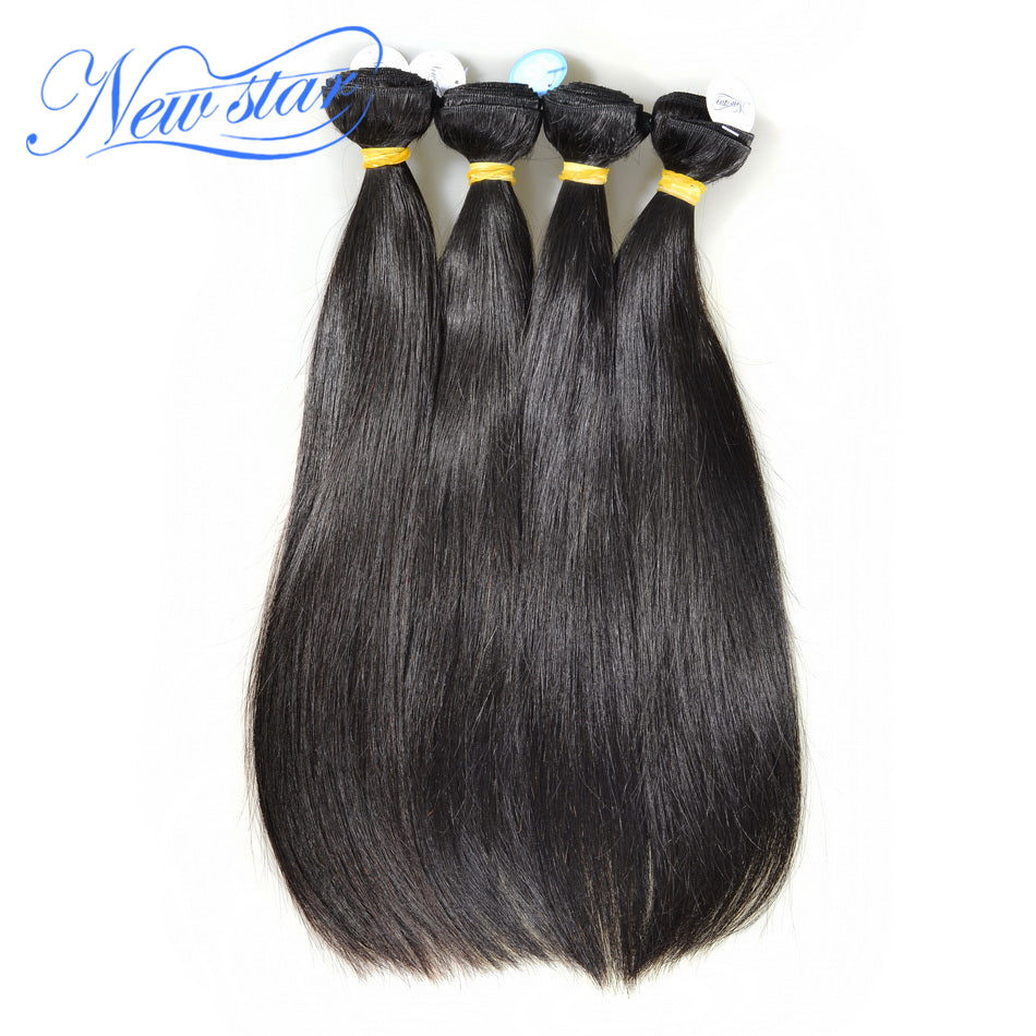 New Star Brand Brazilian Straight Virgin Hair 4 Pcs Human Hair Extensions Bundles 10-30