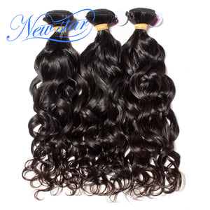 New Star Brand Brazilian Natural Wave Virgin Human Hair 3 Bundle Thick Extension Intact Cuticle Unprocessed Natural Color Hair Weave