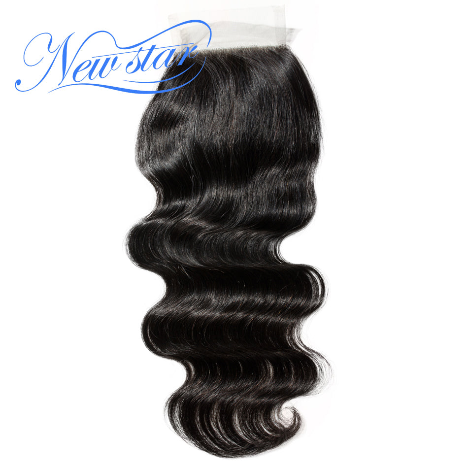 New Star Brand Brazilian Body Wave 4x4 Lace Closures Free Part 10-20