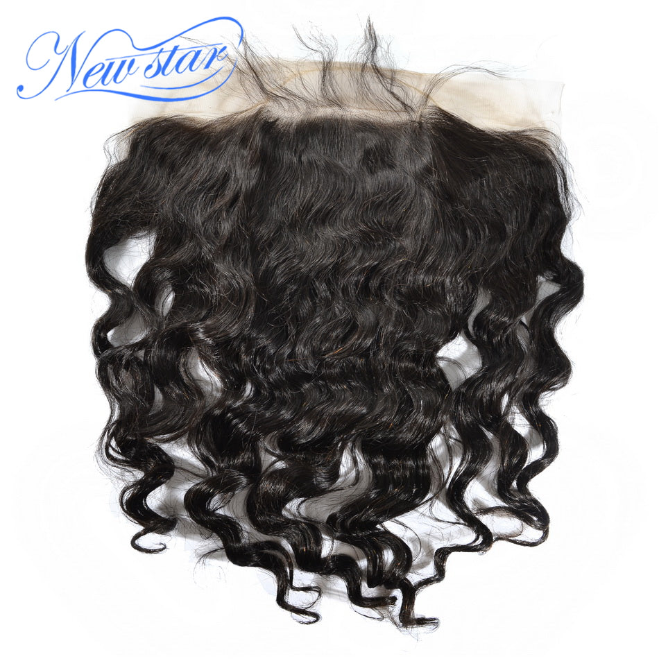 New Star Brand Virgin Brazilian Hair Loose Deep 13x6 Lace Frontal Closures 100% Human Hair Bleached Knots Pre Plucked With Baby Hair Extensions 10-20