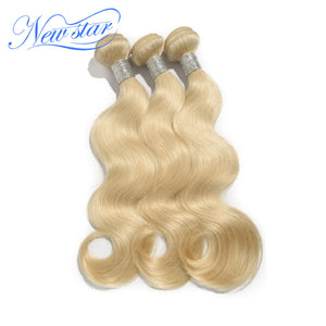New Star Brand Brazilian Body Wave 3 Bundles Platinum Blonde Remy Hair Weave 100% Intact Cuticle Human Hair