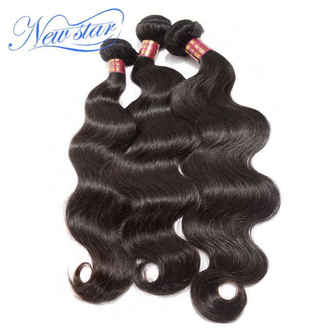 New Star Peruvian Virgin Body Wave Hair Extension 3 Bundles Thick Human Hair