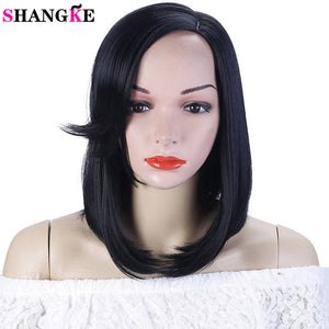SHANGKE Short Straight Synthetic Bob Wig