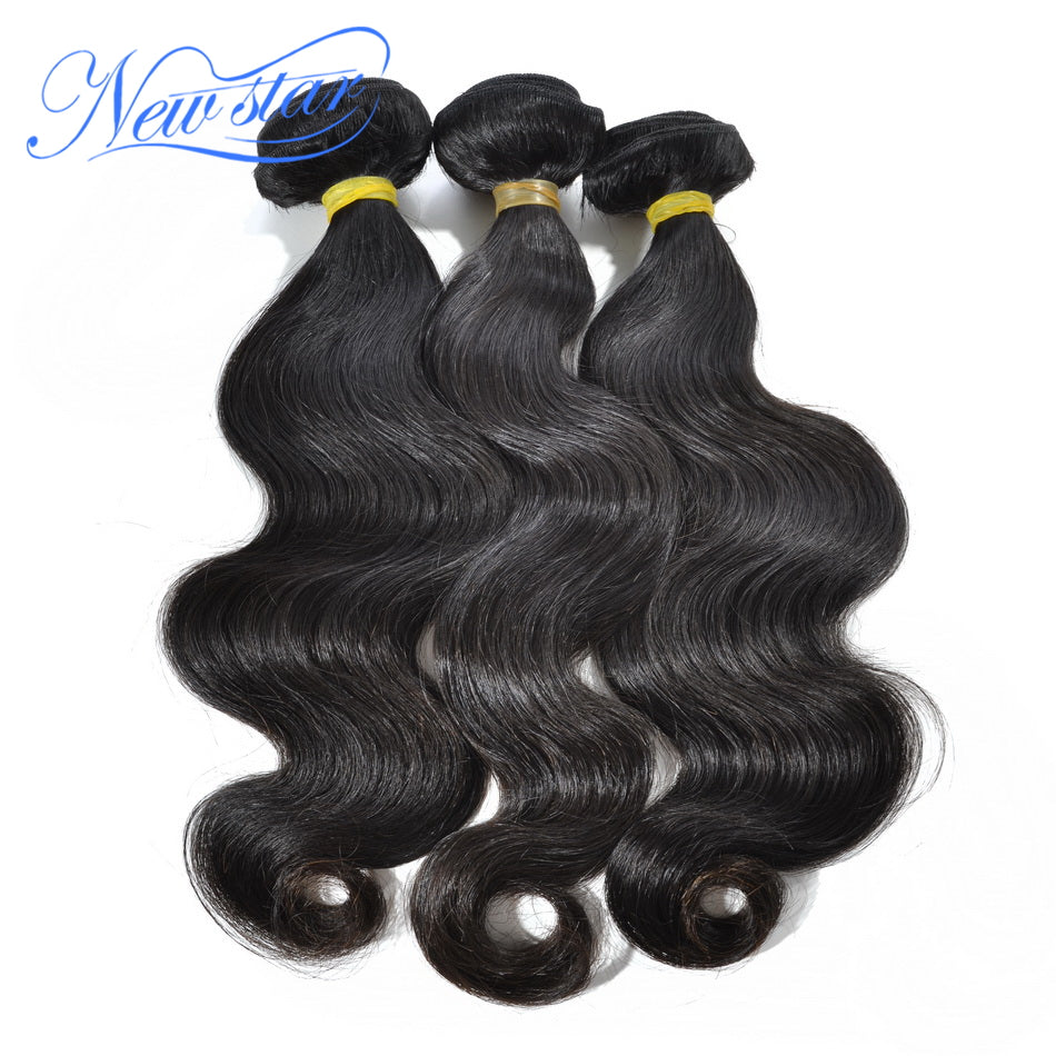 New Star Brand Malaysia Virgin Hair Weave 3 Bundles Body Wave Human Hair Extension 10-30