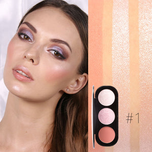 FOCALLURE Brand New Arrival 3 Colors/Palette Face Matte Blush Powder