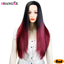 SHANGKE 22 inch Long Straight Synthetic Wig