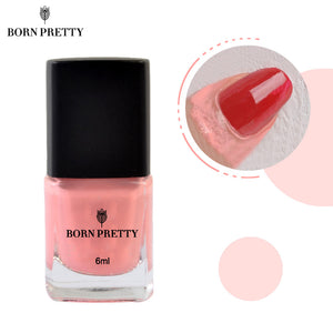 BORN PRETTY Pink Nail Polish & Peel Off Base Coat