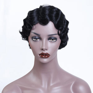SHANGKE Short Curly Synthetic Wig