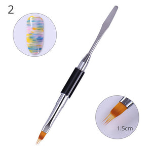 Black Dual-ended Acrylic Nail Painting Pen