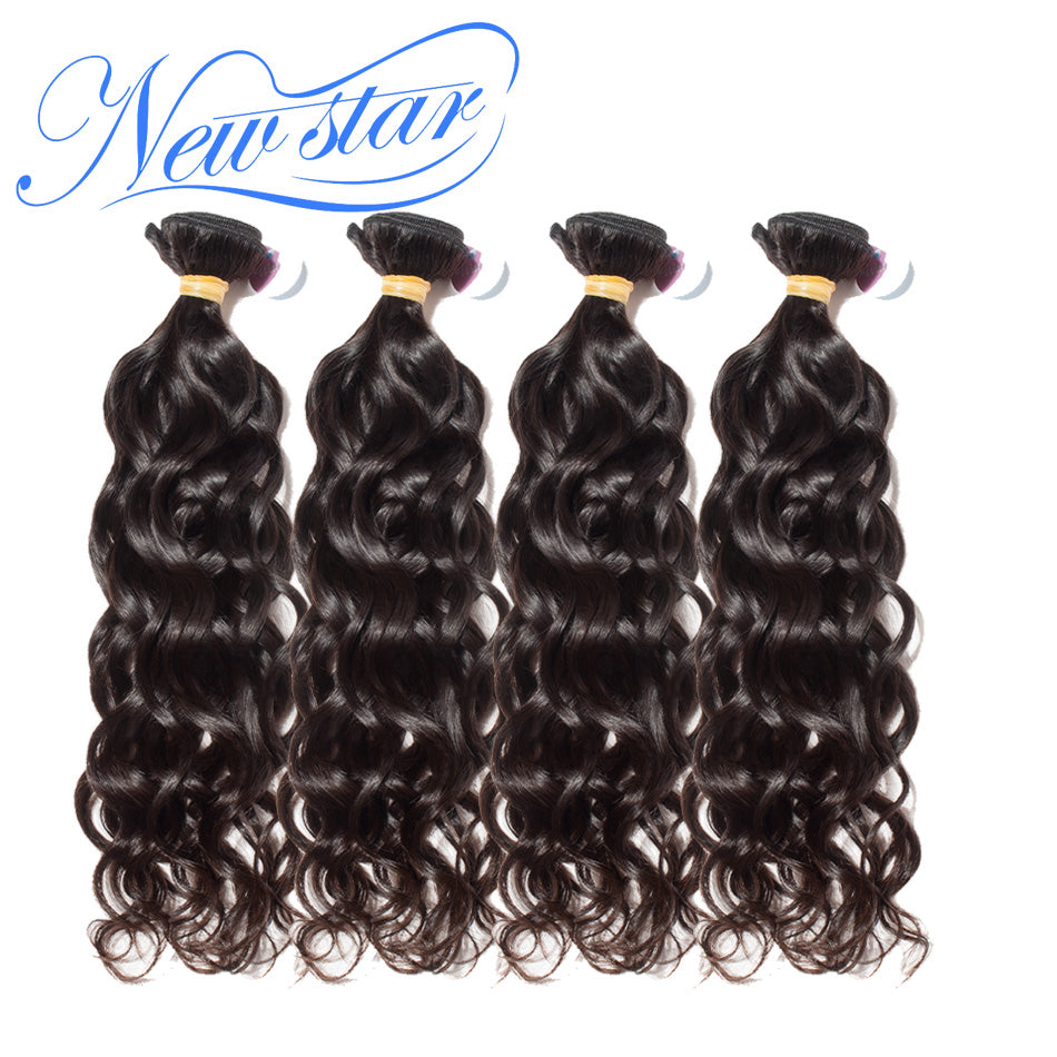 New Star Brand Brazilian Natural Wave Hair Weave Extensions 4 Bundles 100% Human Hair