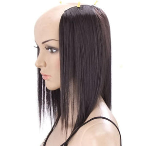 SHANGKE  2 Pieces 3 Clips In straight synthetic Hair Extensions