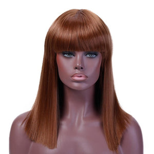 Shangke 40CM Long Straight Synthetic Wig