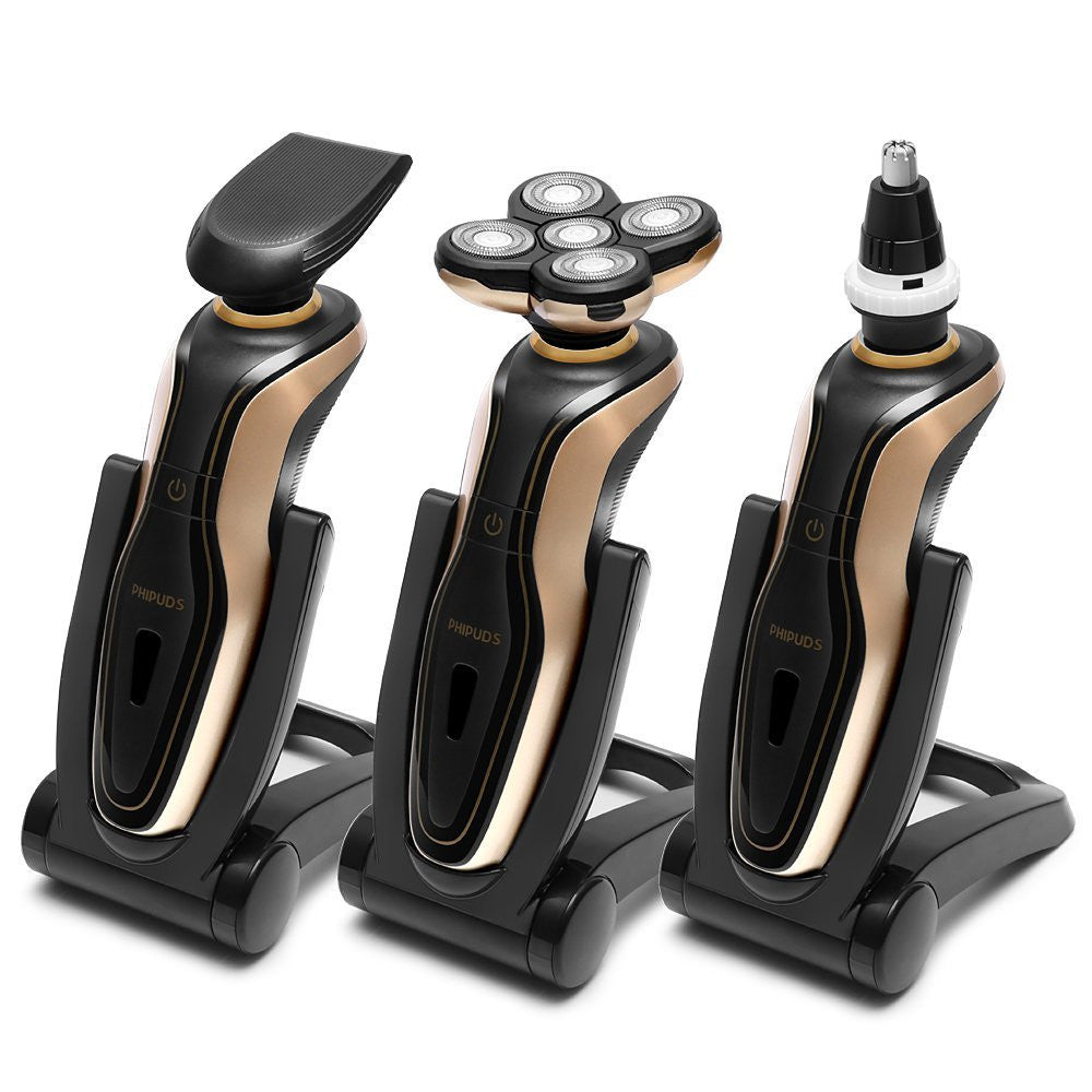PHIPUDS 3Set Electric Rechargeable Shaver For Men